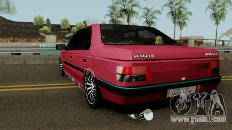 Peugeot 405 GLX for GTA San Andreas back left view