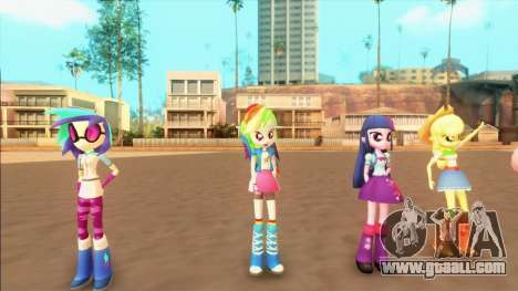 My Little Pony Equestria Girls Mod v1 for GTA San Andreas forth screenshot