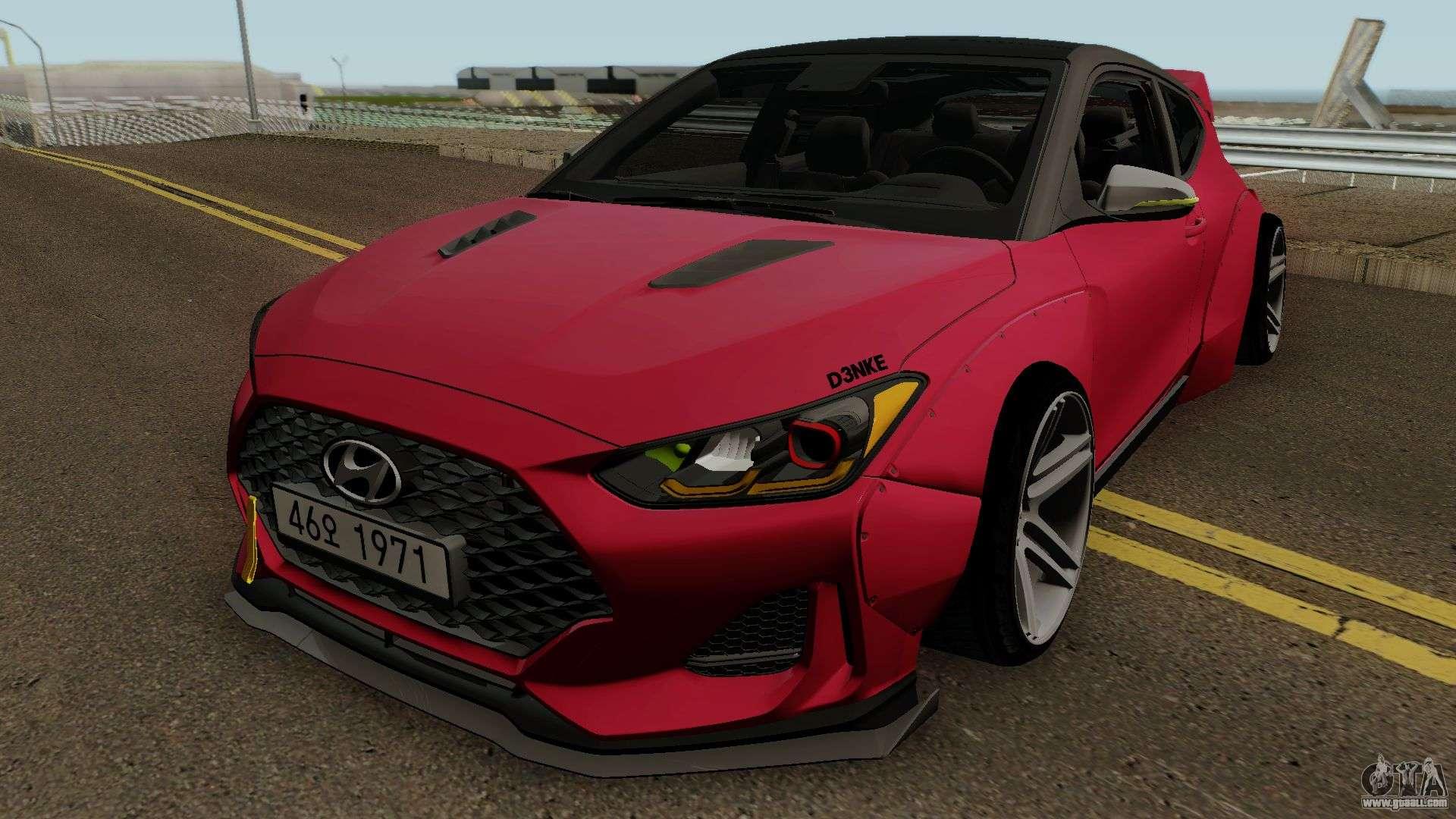 Hyundai Veloster Turbo Widebody 2019 For Gta San Andreas
