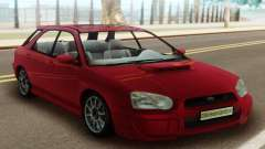 Subaru Impreza WRX Wagon Red for GTA San Andreas