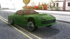 Mazda RX-7 Green Drift for GTA San Andreas