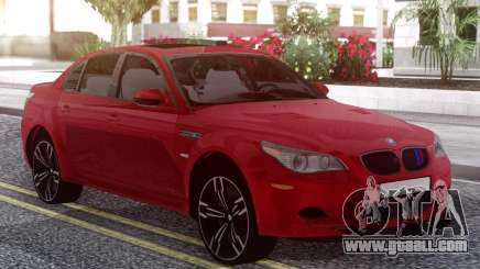BMW M5 E60 Red for GTA San Andreas