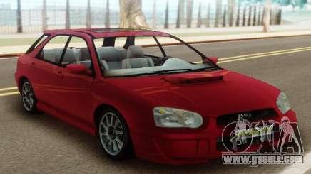 Subaru Impreza WRX Wagon Red for GTA San Andreas