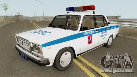 VAZ 2107 DPS (Police of Moscow) for GTA San Andreas