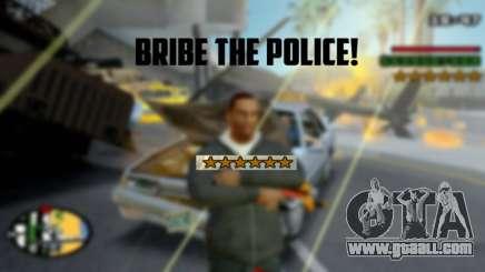 Bribe The Police Like in GTA 5 Online for GTA San Andreas