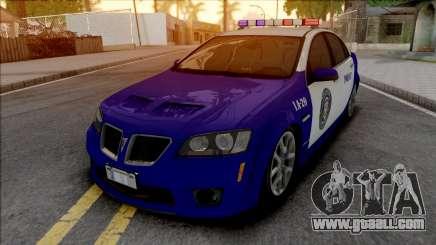 Pontiac G8 GXP LSPD for GTA San Andreas