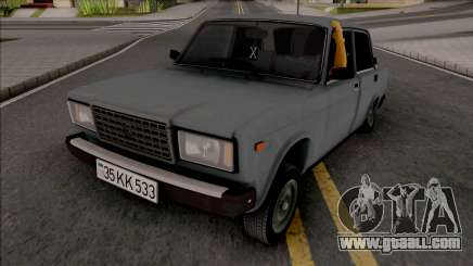 Vaz 2107 Grey for GTA San Andreas