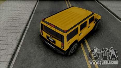 Hummer H2 2003 Improved for GTA San Andreas