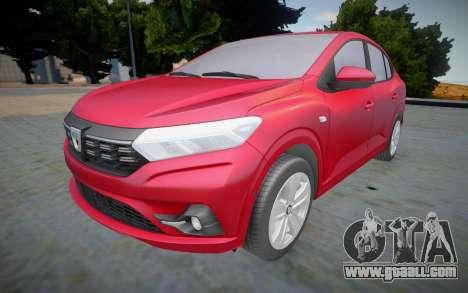 Dacia Logan 2021 (interior lowpoly) for GTA San Andreas