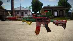HK416 Merry Christmas for GTA San Andreas