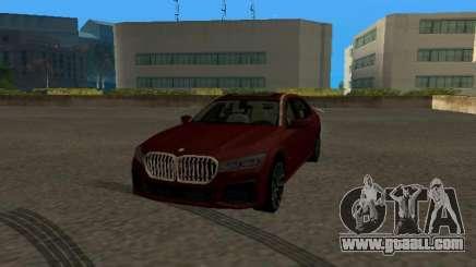BMW 750Li Xdrive 2021 for GTA San Andreas