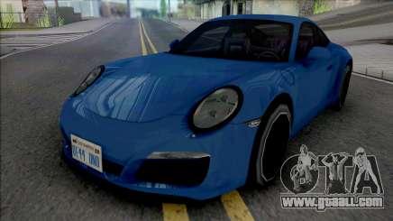 Porsche 911 Carrera 4 2017 Improved for GTA San Andreas