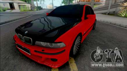 BMW 5-er E39 Red Black for GTA San Andreas