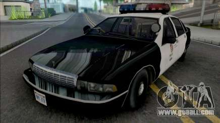 Chevrolet Caprice 1992 LAPD Improved for GTA San Andreas