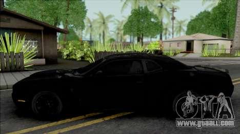 Dodge Challenger SRT Demon Unmarked Police for GTA San Andreas