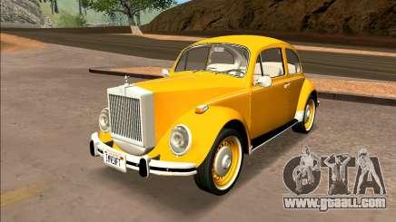 Volkswagen Beetle Mini Rolls Royce 1971 - Brazil for GTA San Andreas