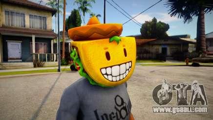 GTA V Taco Mask For Cj for GTA San Andreas