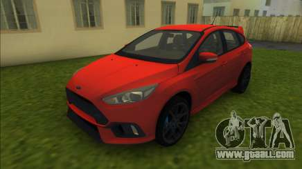 Ford Focus RS 2017 for GTA Vice City