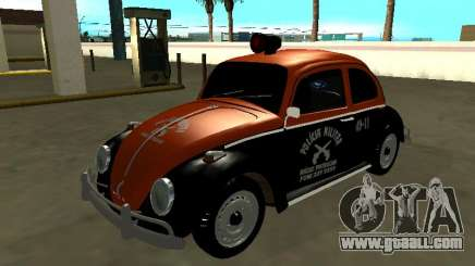 Volkswagen Beetle 1969 Paulista Patrol Radio for GTA San Andreas