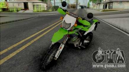 Kawasaki KLX 150 Green for GTA San Andreas