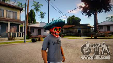 Mariachi Skull Mask For CJ for GTA San Andreas