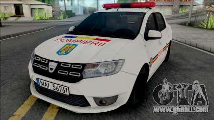 Dacia Logan Plus Fire Department for GTA San Andreas