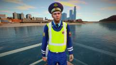 DPS inspector in yellow vest for GTA San Andreas