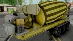Cement Mixer Trailer Yellow for GTA San Andreas