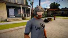 Pilot Helmet From Resident Evil 5 With Transpar for GTA San Andreas