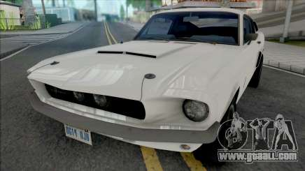 Ford Mustang Shelby GT500 1967 White for GTA San Andreas
