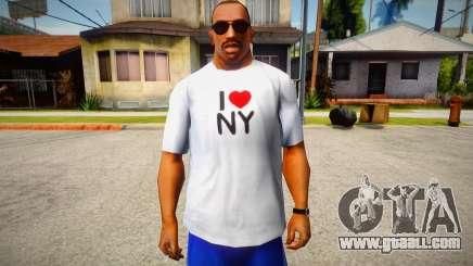 T-shirt I love NY for GTA San Andreas