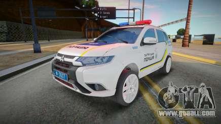 Mitsubishi Outlander - Ukrainian Police Patrol for GTA San Andreas