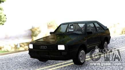 Audi Sport Quattro 1983 Black for GTA San Andreas