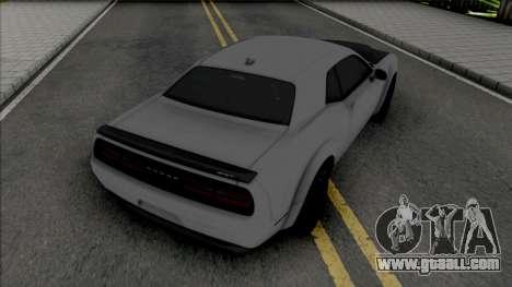 Dodge Challenger Demon SRT 2019 for GTA San Andreas
