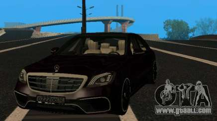 Mercedes-Benz S63 AMG 2018 MY for GTA San Andreas