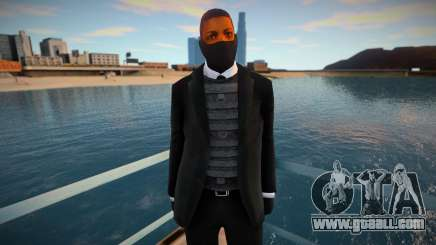 New security guard in a mask for GTA San Andreas