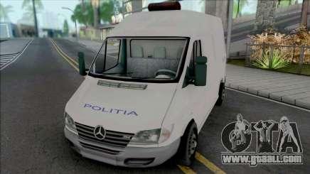 Mercedes-Benz Sprinter Politia for GTA San Andreas