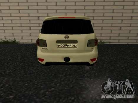 Nissan Patrol LE Y62 RUS Plates for GTA San Andreas