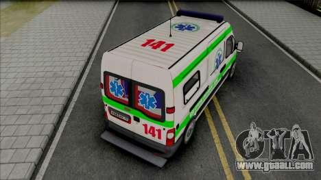 Renault Master Seme Ambulancia Paraguay for GTA San Andreas