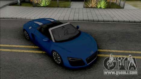 Audi R8 Spyder (SA Lights) for GTA San Andreas