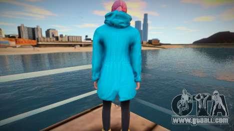 Girl in turquoise cloak from GTA Online for GTA San Andreas