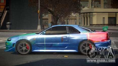 Nissan Skyline R34 PSI-S S9 for GTA 4