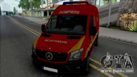 Mercedes-Benz Sprinter Scafandrii Pompierii for GTA San Andreas