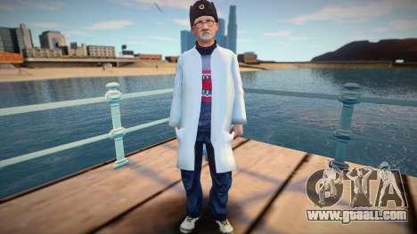 Russian scientist in earplug for GTA San Andreas