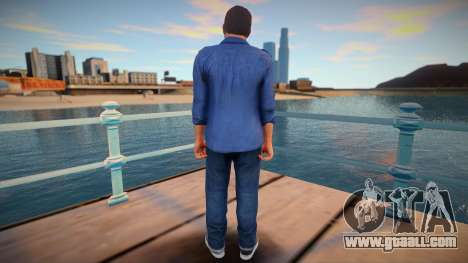 Michael in a blue shirt for GTA San Andreas