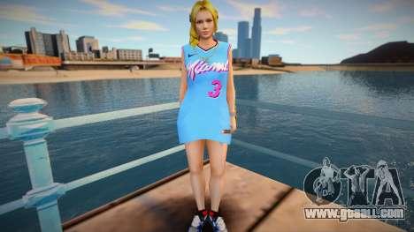 DOA Helena Douglas Fashion Casual V1 Miami Heat for GTA San Andreas