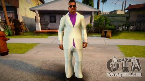 Lance Vance white suit for CJ for GTA San Andreas