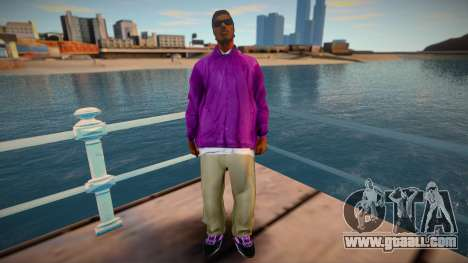 New Ryder Balla Thief Costume Skin for GTA San Andreas