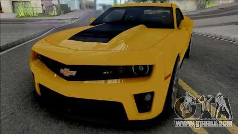 Chevrolet Camaro ZL1 [HQ] for GTA San Andreas