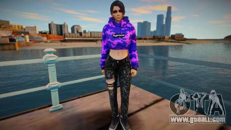 DOA Momiji Fashion Casual V3 Crop Hoodie for GTA San Andreas